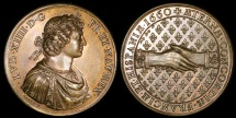 World Coins - 1660 France - Louis XIIII The Peace of the Pyrenees by Jean Hardi