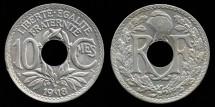 World Coins - 1918 France 10 Centimes BU