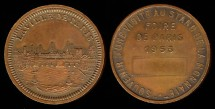 World Coins - 1953 France - Villa de Paris Mint Visit Medal