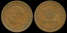 World Coins - 1884 India (Portuguese) 1/4 Tanga XF