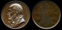 World Coins - 1817  France - Michel de l'Hospital (French statesman) by By Francois-Augustin Caunois for the Galerie Metallique des Grands Hommes Francais