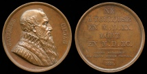 World Coins - 1821  France - Jacques Cujas, Medieval French legal expert, by Joseph Arnold Pingret from the Gallerie Metallique des Grands Hommes Francais series