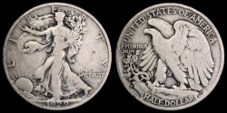 Us Coins - 1929 S Walking Liberty Half Dollar F