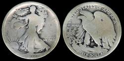 Us Coins - 1917 P Walking Liberty Half Dollar AG