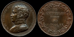 World Coins - 1821  France - Henry Louis Auguste Vergier of Rochejaquelein - The youngest general of the Royalist Vendéan insurrection during the French Revolution by Antoine Desboeufs