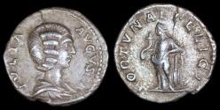 Ancient Coins - Julia Domna Denarius - FORTVNAE FELICI - Rome Mint
