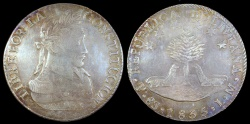 World Coins - 1835 PTS-LM Bolivia 8 Soles AU