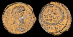 Ancient Coins - Constantius II Ae4 - VOT XX MVLT XXX - Antioch Mint