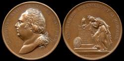 World Coins - 1824  France - Death of Louis XVIII by Joseph Gayrard and Joseph S. Brun