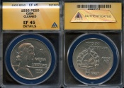 "World Coins - 1935 Cuba 1 Peso - ""ABC Peso"" ANACS XF45"