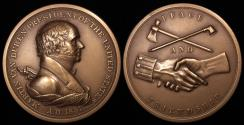 """Us Coins - 1837 Martin Van Buren """"Indian Peace Medal"""" - Eighth President of the United States (March 4, 1837 to March 3, 1841) - Original US Mint Medal by Moritz Furst and John Reich"""