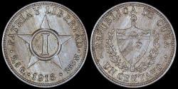 World Coins - 1916 Cuba 1 Centavo - 1st Republic - UNC