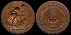 World Coins - 1890 Austria / Vienna – Vocalist Music Medal