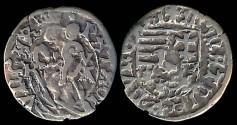 World Coins - 1482-1486 Hungary Denar - Matthias Corvinus VF
