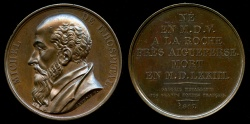 World Coins - 1817  France - Michel de l'Hospital (French statesman) by By Francois-Augustin Caunois for the Galerie Metallique des Grands Hommes Francais