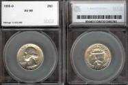 Us Coins - 1955d Washington Quarter SEGS AU58