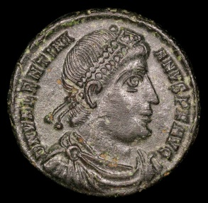 Ancient Coins - Valentinian I Ae3 - GLORIA ROMANORVM - Siscia Mint