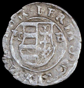 World Coins - 1639 KB Hungary 1 Denar - Ferdinand II - AU Silver