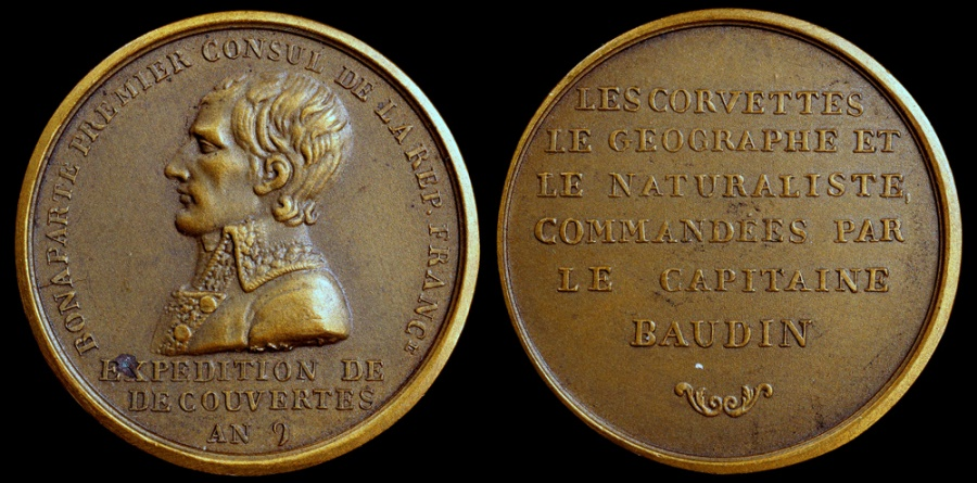 World Coins - 1800 France - Napoleon - Expedition of Captain Nicolas-Thomas Baudin (to Australia) by Jean-Pierre Montagny