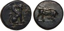 Ancient Coins - Kaunos Caria : Sphinx / Bull Butting