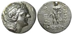 Ancient Coins - Thasos Thrace AR Tetradrachm : Head of Dionysos / Herakles with Lion's Skin