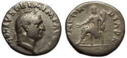 Ancient Coins - Vitellius AR Denarius Concordia