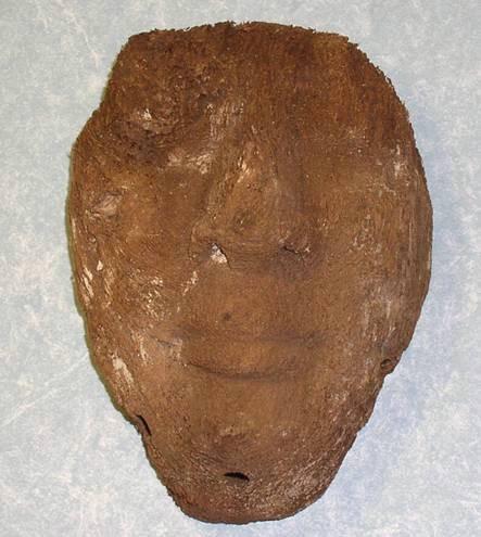 Ancient Coins - Wooden Kah Mask