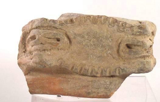 Ancient Coins - Taino Pottery Head - AD600-1400.