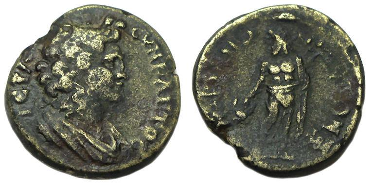 Ancient Coins - Hadrianotherae Mysia : Time of Hadrian : Bust of Senate / Asklepios