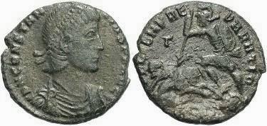 Ancient Coins - Constantius II. AE Centenionalis,  A.D. 337-361.