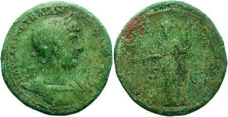 Ancient Coins - Hadrian AD 117-138 AE Sestertius