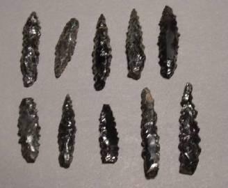 Ancient Coins - Aztec Obsidian Arrowheads