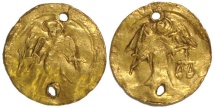 Ancient Coins - Byzantine Gold Funeral Token