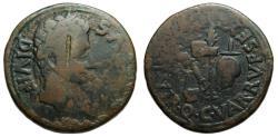 Ancient Coins - Augustus : Carthago Nova Ae As : Emblems of the Pontificate