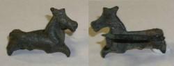 Ancient Coins - Roman Bronze Fibula - prancing horse