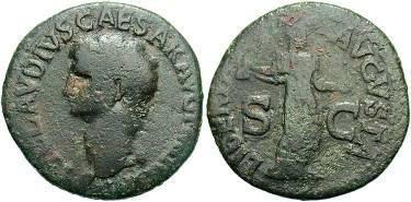 Ancient Coins - Claudius. A.D. 41-54 AE As.