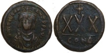 Ancient Coins - Tiberius II Constantine 30 Nummi : Larger 33mm