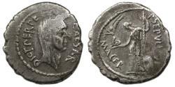 Ancient Coins - Julius Caesar AR Denarius : Venus with Victory and Scepter