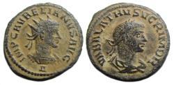 Ancient Coins - Aurelian and Vabalathus Ae Antoninianus