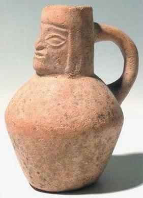 Ancient Coins - Moche Figural Head Pitcher, Peru, AD 50-800