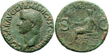 Ancient Coins - Caligula AD 37-41 AE As
