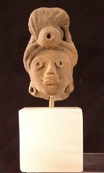Ancient Coins - Huastec Terracotta Head, AD 600-900, Mexico