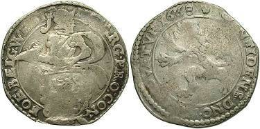 Ancient Coins - Netherlands - Holland, 1/2 Lion Daalder, 1668