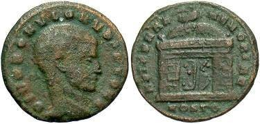 Ancient Coins - Divvus Romulus - Son of Maxentius  AE 1/4 Follis