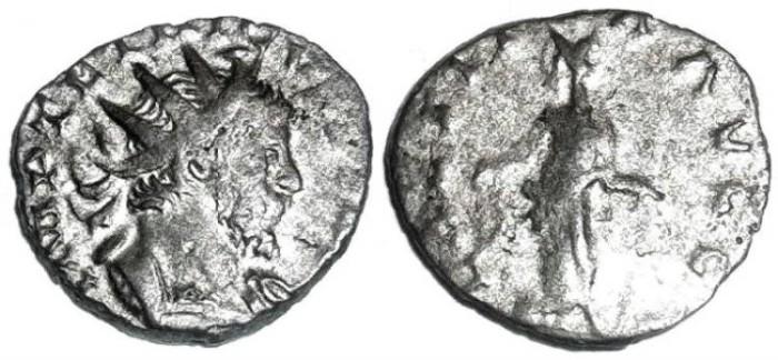 "Ancient Coins - Tetricus I scarce ""white metal"" antoninianus"