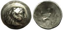 Ancient Coins - Celtic, Donaucelts : AR Tetradrachm : Herakles / Zeus Seated