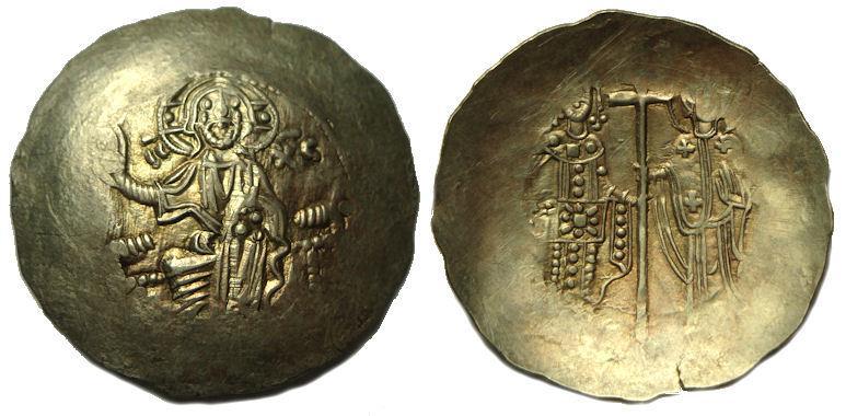 Ancient Coins - Byzantine Electrum Aspron Trachy   Manuel ! AD 1143-1180