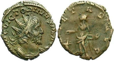 Ancient Coins - Victorinus  AD 268 - 270, AE  Antoninianus