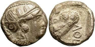 Ancient Coins - Athens, Attica. 300-262BC, AR Tetradrachm