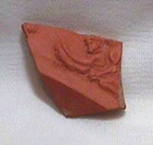 Ancient Coins - Carthaginian Red-Ware Fragment depicting an Angel